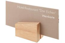 Set de 2 porte-menu de table bois
