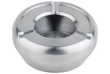 Cendrier inox couvercle coupe-vent