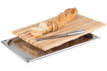 Planche à pain bois avec plateau inox GN 1/1