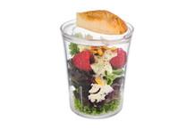 Gobelet transparent Super Cup avec couvercle par carton de 8 pièces