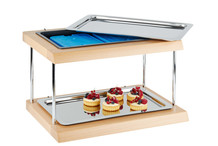 Buffet froid rectangle bois 2 niveaux Doppeldecker