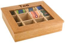 Boîte à thé bois 12 compartiments