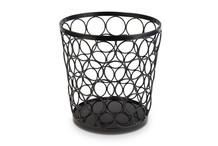 Support / corbeille en métal noir collection Baskets