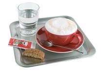 Plateau à café inox carré Kaffeehaus
