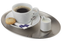 Plateau à café inox ovale Kaffeehaus