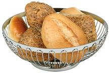 Corbeille à pain ou fruits ronde ajourée en inox