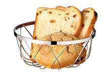 Corbeille à pain ou fruits ronde ajourée métal chromé
