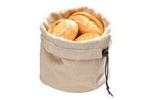 Corbeille à pain en coton avec coussin