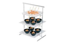 Présentoir en métal pour assiettes ou plateaux