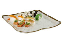 Assiette / plat mélamine collection Stone Art 33 x 32,5 cm
