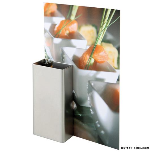Set de 2 porte-menu de table inox