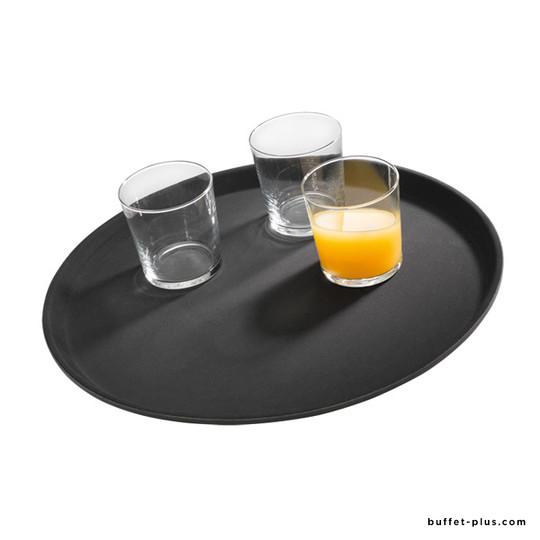 Plateau antidérapant noir fibre de verre