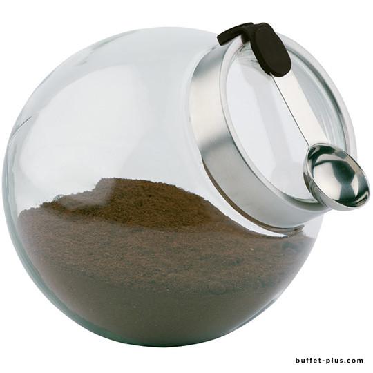 Bocal verre avec couvercle et cuillère