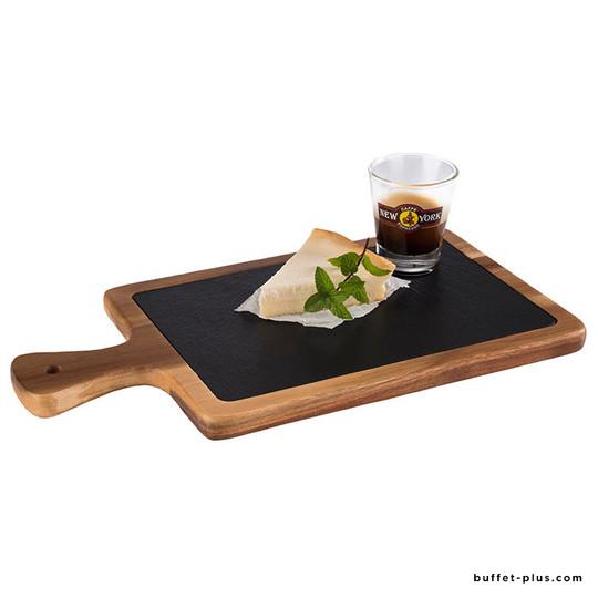 Planche en bois avec ardoise