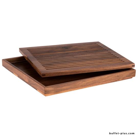 Planche à découper en bois avec son plateau GN 2/3