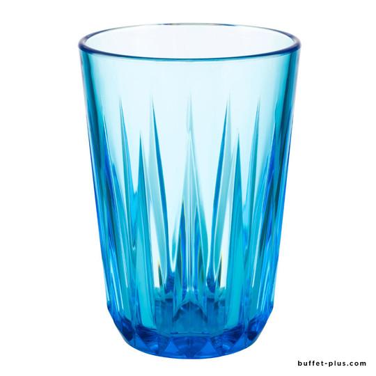 Gobelet transparent bleu Crystal, coffret de 6 gobelets