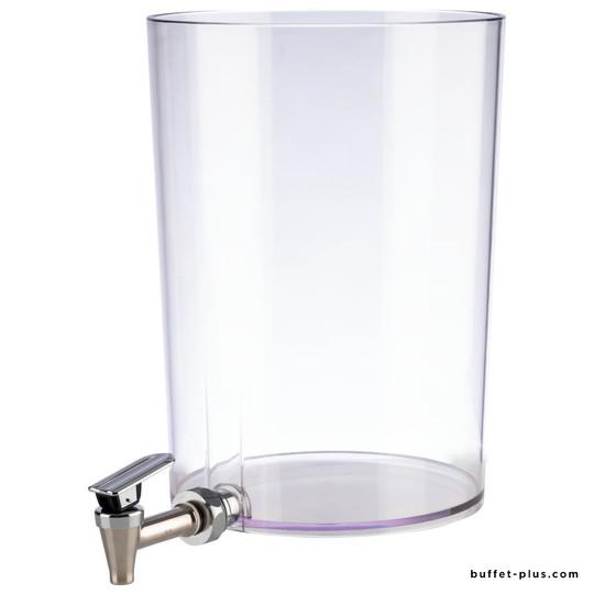 Récipient avec robinet pour fontaine à jus de fruits
