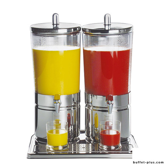 Distributeur à jus de fruits double base inox Top Fresh