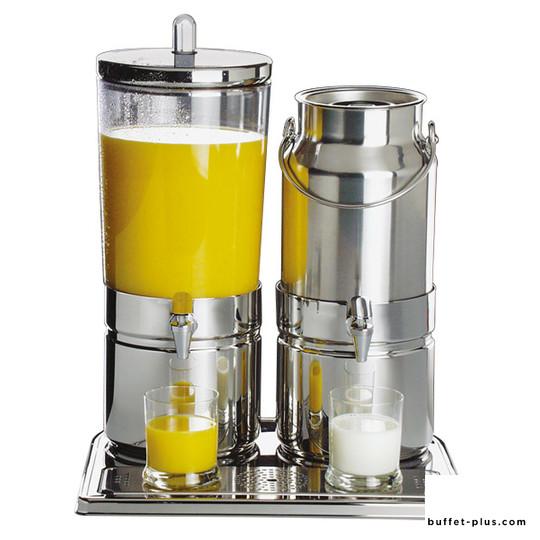 Distributeur double jus de fruit et à lait inox base inox Top Fresh