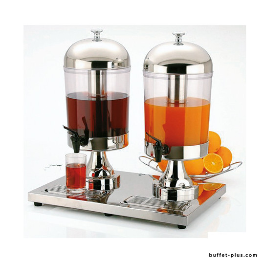 Distributeur à jus de fruit double Inox Star
