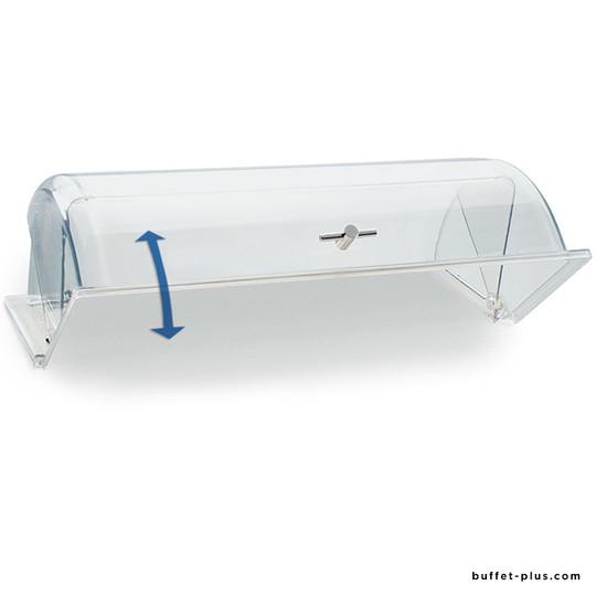 Cloche roll-top transparente pour plateaux ou corbeilles GN