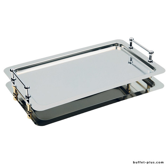 Plateau inox GN 1/1 superposable avec anses Buffet Star