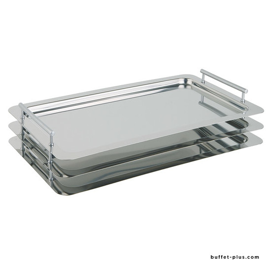 Plateau inox GN 1/1 empilable avec anses Classic