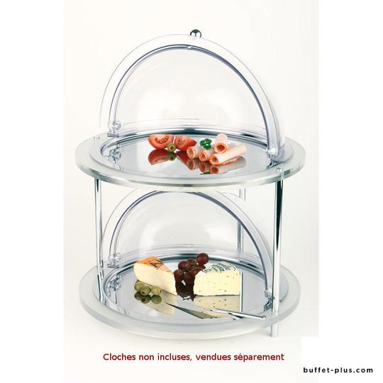 Buffet froid rond acrylique 2 niveaux Doppeldecker