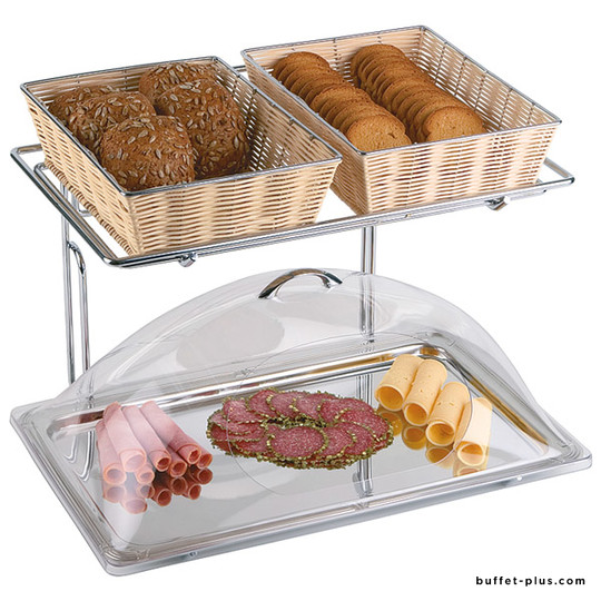 Présentoirs 2 étages pour corbeilles ou plats GN