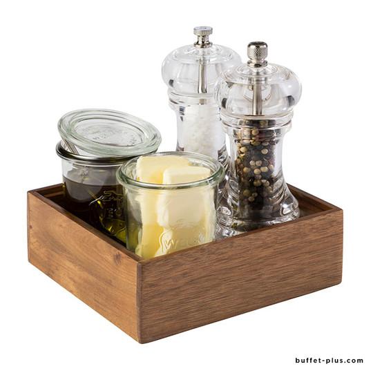 Boîte à compartiments bois multi-usages Woody