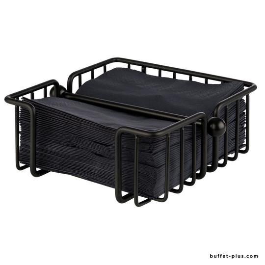 Porte-serviettes métal noir Urban