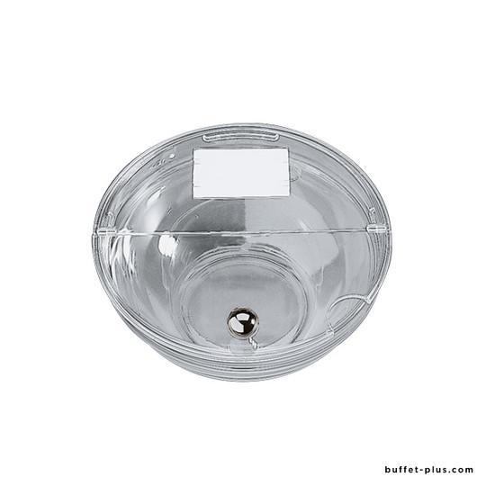 Couvercle transparent pliable avec étiquette