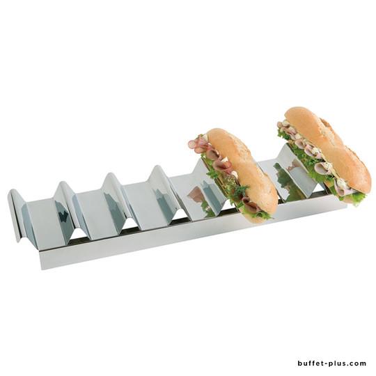 Présentoir à sandwiches inox