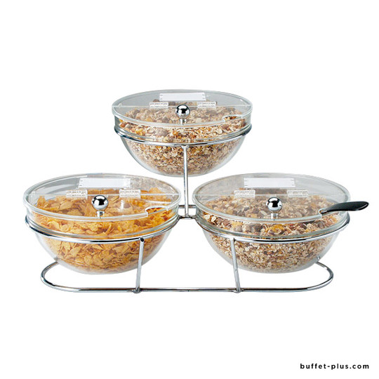 Présentoir céréales Big 3 bols Ø 23 cm
