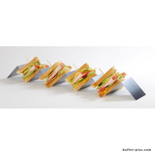 Présentoir à sandwiches inox accordéon