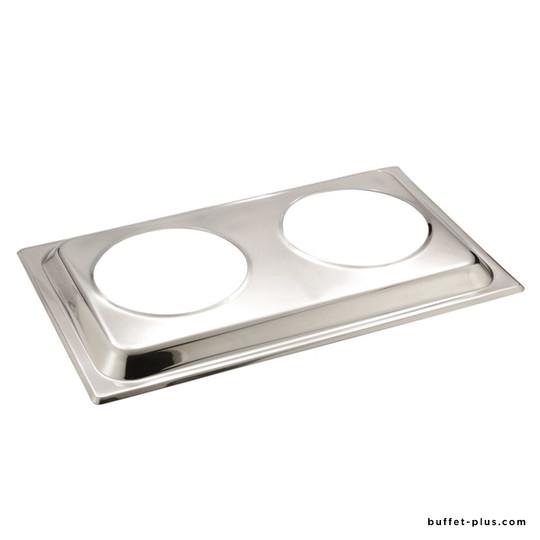 Couvercle pour chafing dish GN 1/1 avec deux emplacements marmite