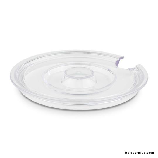 Couvercle transparent pour saladier avec encoche cuillère