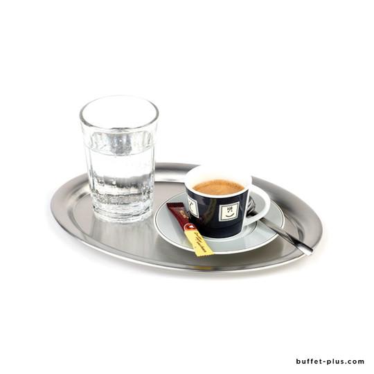 Plateau à café ovale inox Kaffeehaus