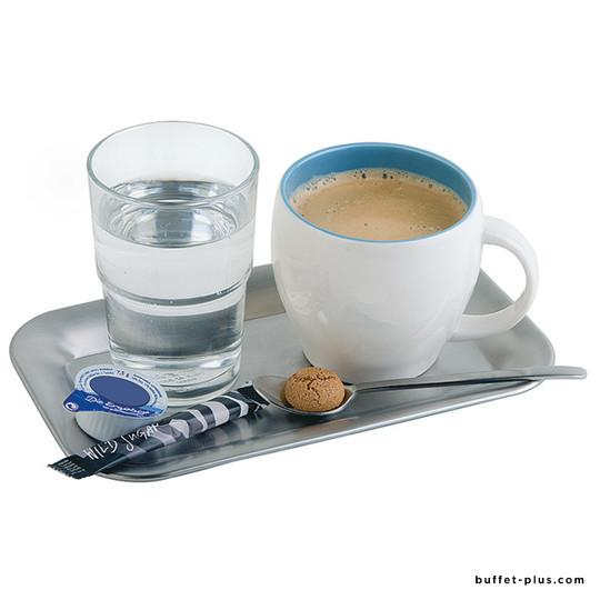 Plateau à café inox rectangle Kaffeehaus