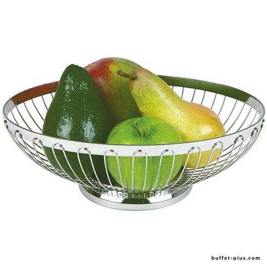 Corbeille à pain ou fruits ovale ajourée en inox