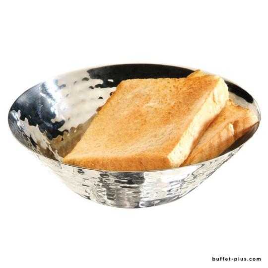Corbeille à pain ou fruits inox martelé