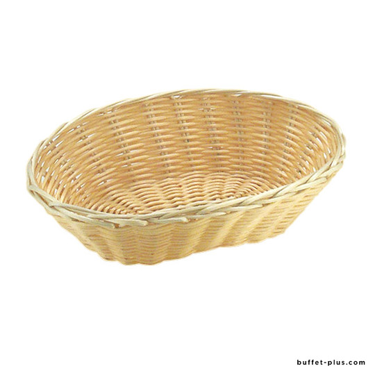 Corbeille à pain ou à fruits ovale Basic