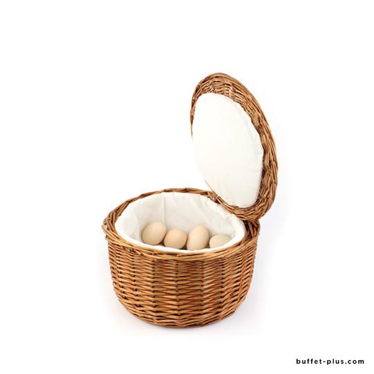 Panier à œufs en rotin