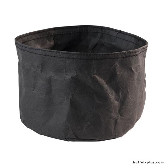 Corbeilles à pain rondes Paperbag noir