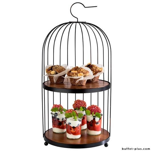 Présentoir buffet cage à oiseaux