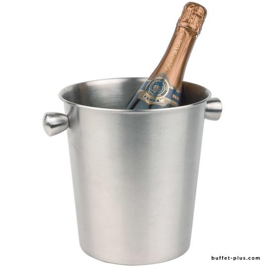 Seau à vin ou champagne inox mat 2 poignées