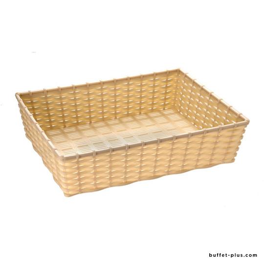 Corbeille à pain ou à fruits rectangle aspect osier