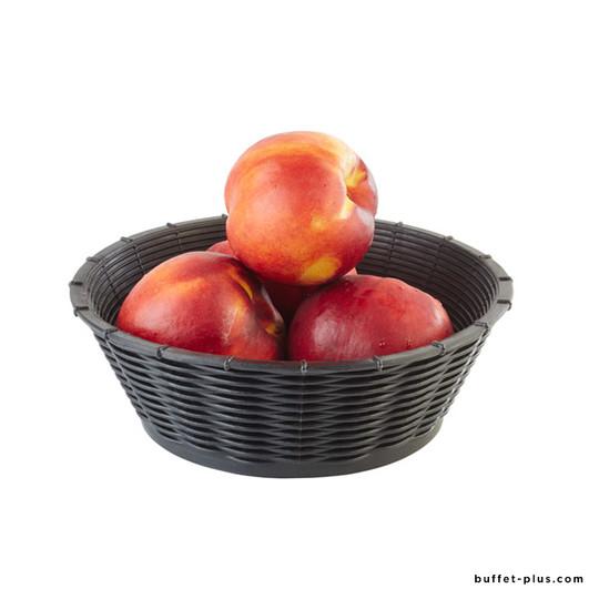 Corbeille à pain ou à fruits ronde aspect osier