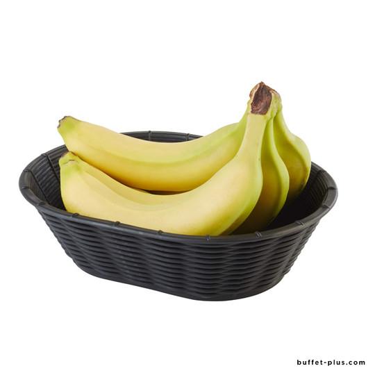 Corbeille à pain ou à fruits ovale Wicker Look