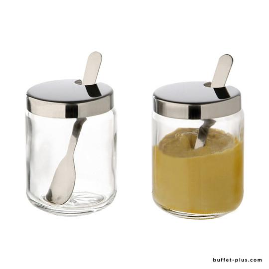 Pot à moutarde avec couvercle
